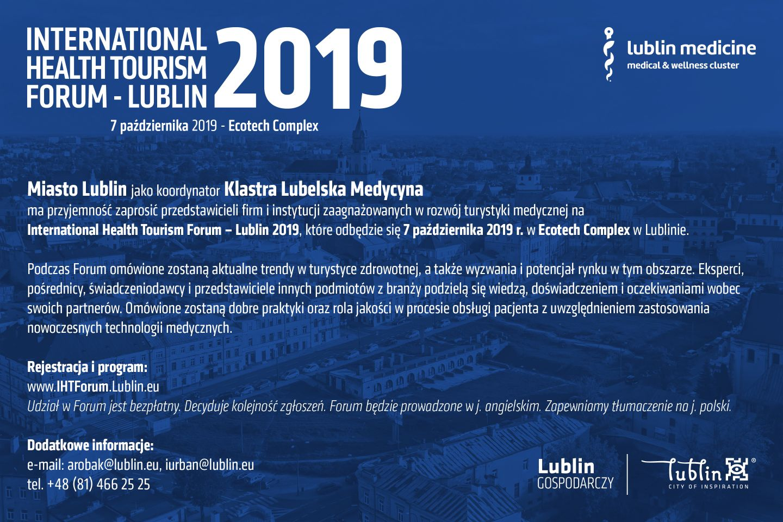Patronat – Health Tourism Forum – Lublin 2019