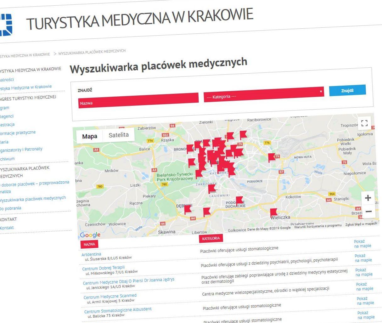 Audyt bazy podmiotów medycznych z Krakowa 2019